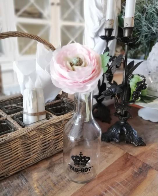 Flaske med sort tryk No. 897 H: 21 cm.  - 1