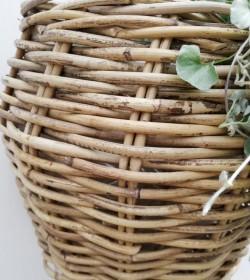 Plantekurv til væg med plastfor H: 28 cm. - 2