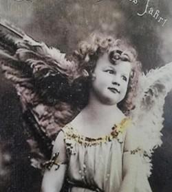Canvasbillede med engel 26,5x42,5 cm.  - 2