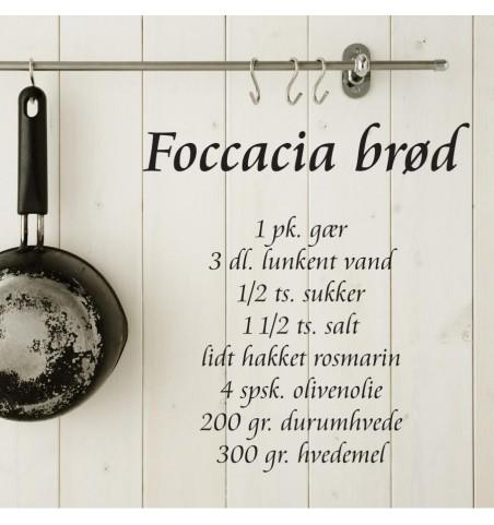 Wallsticker Foccaciabrød 50x56 cm.  - 1