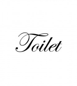 Wallsticker Toilet 6x16 cm.  - 2