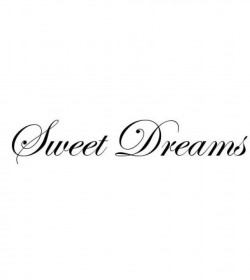 Wallsticker Sweet dreams 10x54 cm.  - 1