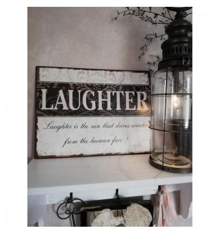 Skilt Laughter.. 26,5x35 cm. - 1