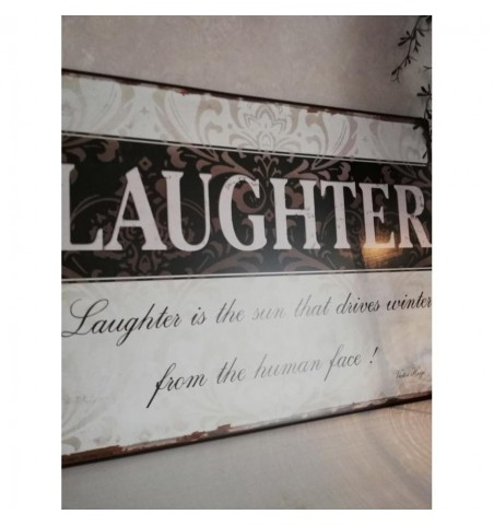 Skilt Laughter.. 26,5x35 cm. - 2