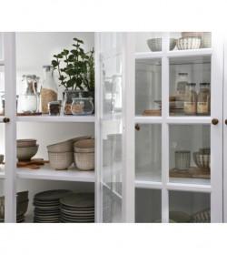 Stort hvidt vitrineskab med 8 glaslåger H: 195 cm.  - 4