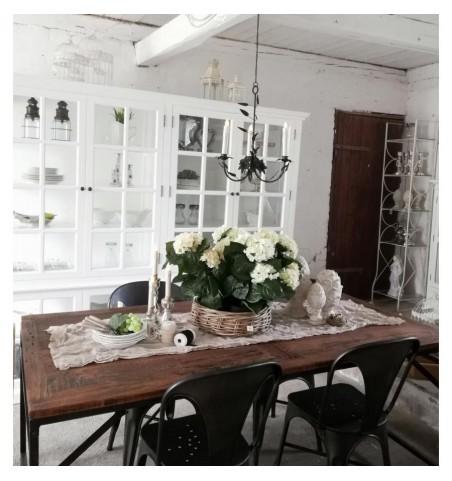 Stort hvidt vitrineskab med 8 glaslåger H: 195 cm.  - 5
