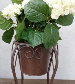 Kunstig lysegrøn hortensia plante H: 43 cm. pr. stk. - 2