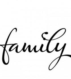 Wallsticker Family 15x27 cm.  - 2