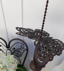 Mørk uro med sommerfugl og klokke L: 46 cm.  - 2