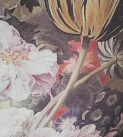 Lærred med blomsterprint 76x97 cm. (Douchede farver) - 2