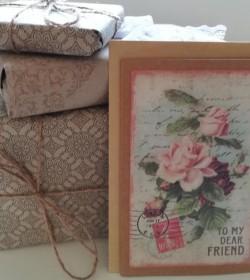 Dobbeltkort med kuvert To my dear friend 12,5x17 cm.  - 1