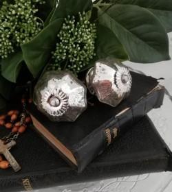 Møbelknop fattigmandssølv Ø: 4,5 cm. pr. stk.  - 2