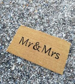 Dørmåtte Mr & Mrs - 1