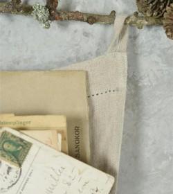 Julepose til breve i hør 21x30 cm.  - 2