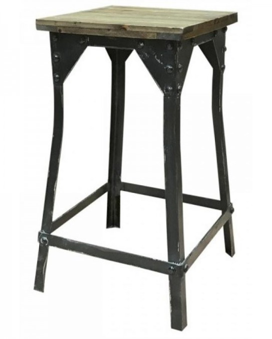 Taburet i factory stil H: 57 cm.  - 1
