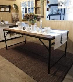Tæppe gråt/sort/brunt 150x240 cm. i læder/bomuld - 1
