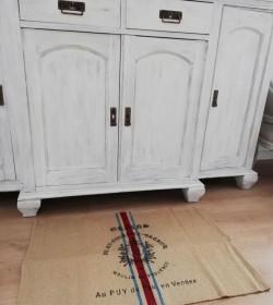 Lille tæppe med fransk tryk 50x80 cm. - 1