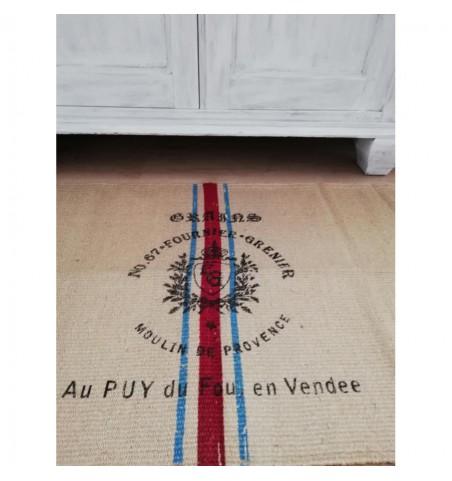 Lille tæppe med fransk tryk 50x80 cm. - 2