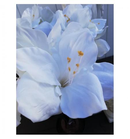 Kunstig hvid amaryllis i potte H: 45 cm. pr. stk. - 3