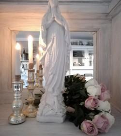 Kunstig hvid rose L: 50 cm. pr. stk.  - 1