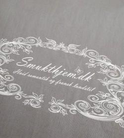 Gråt indkøbsnet 38x42 cm. med smukthjem.dk logo - 2