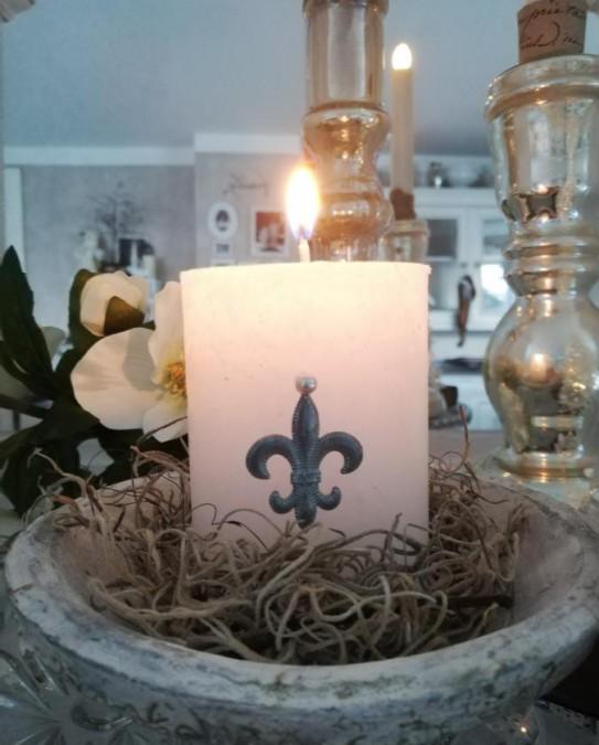 Lille fransk dekorationslilje i zink - 1