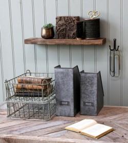 Skrivebord med rå plade og jernstel L: 120 cm.  - 3
