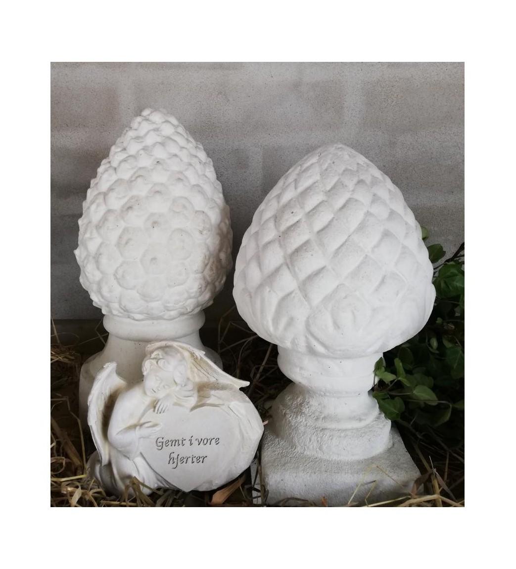 Kogle i marmor H: 23 cm. (buttet)  - 1