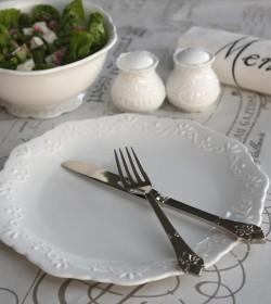 Hvid Provence middagstallerken  - 1