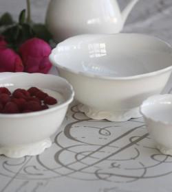 3 hvide Provence skåle  - 1