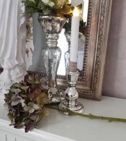 Kunstig grøn hortensia L: 45 cm.  - 1