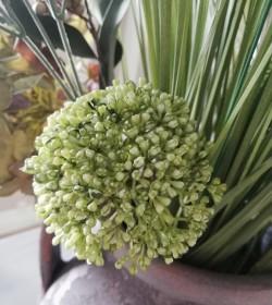 Kunstig grøn allium L: 36 cm.  - 1