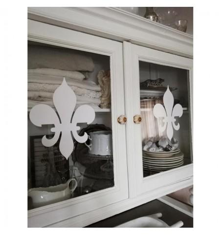 Wallsticker stor hvid lilje H: 29,5 cm.  - 1