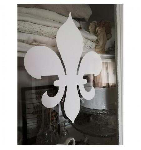 Wallsticker stor hvid lilje H: 29,5 cm.  - 2