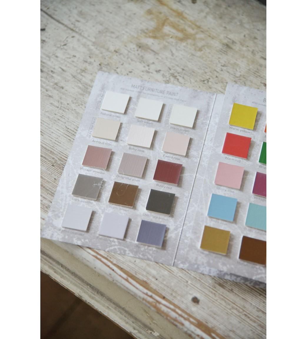 Farvekort Vintage Paint kalkmaling  - 1