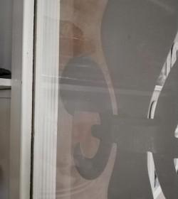 Wallsticker stor hvid lilje H: 29,5 cm.  - 3