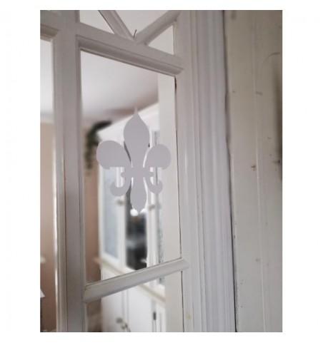 Wallsticker lille hvid lilje H: 18,5 cm.  - 1