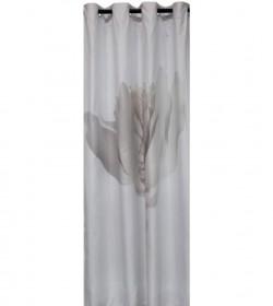 Lysegråt badeforhæng 140x200 cm.  - 1