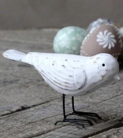 Antikhvid fugl i træ H: 8 cm.   - 1
