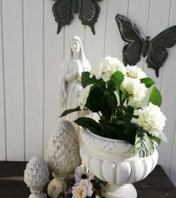 Blomsterkrukke i marmor H: 32 cm. (Erica) - 1