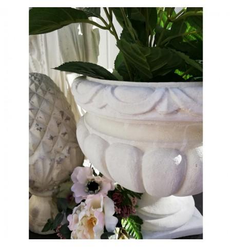 Blomsterkrukke i marmor H: 32 cm. (Erica) - 2