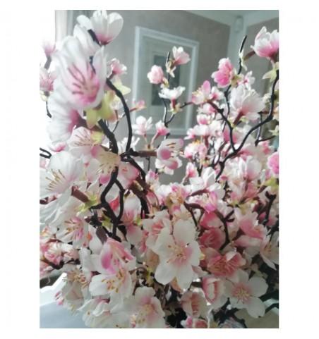 Kunstig rosa kirsebærgren L: 60 cm. pr. gren - 2