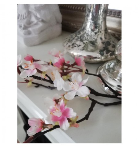Kunstig rosa kirsebærgren L: 60 cm. pr. gren - 4