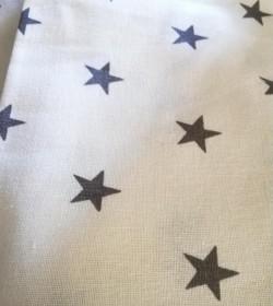 Hvide viskestykker med mørkegrå stjerner 2 stk.  - 3
