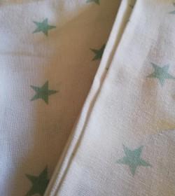 Hvide viskestykker med grønne stjerner 2 stk.  - 3
