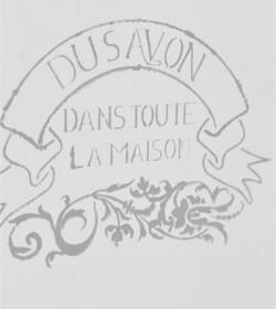 Lille stencil med fransk...