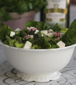 Hvid Provence salatskål Ø: 25 cm. - 1