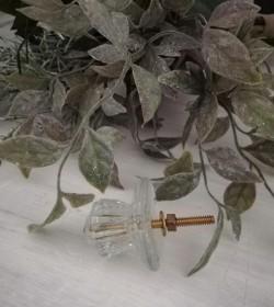 Møbelknop glas m/roset pr....