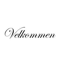 Wallsticker Velkommen 8x35 cm.
