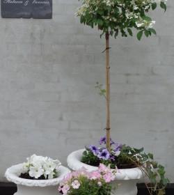 Blomsterkrukke i marmor H: 49 cm.  - 1